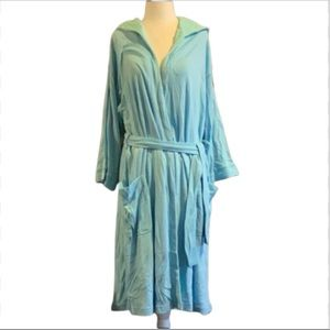 Vintage 90's Maidenform blue robe with hood